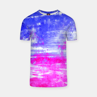 psychedelic sky clouds pattern wsdb T-shirt miniature