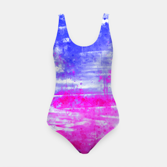 psychedelic sky clouds pattern wsdb Swimsuit miniature