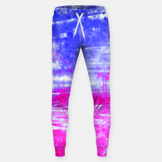 psychedelic sky clouds pattern wsdb Sweatpants miniature