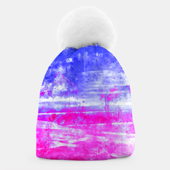 psychedelic sky clouds pattern wsdb Beanie miniature