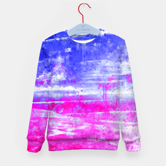psychedelic sky clouds pattern wsdb Kid's sweater miniature