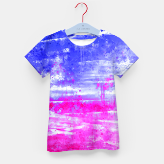 psychedelic sky clouds pattern wsdb Kid's t-shirt miniature