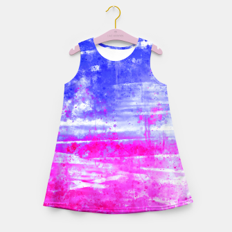 psychedelic sky clouds pattern wsdb Girl's summer dress miniature