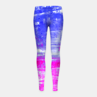 psychedelic sky clouds pattern wsdb Girl's leggings miniature