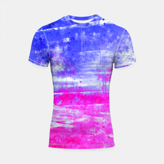 psychedelic sky clouds pattern wsdb Shortsleeve rashguard miniature