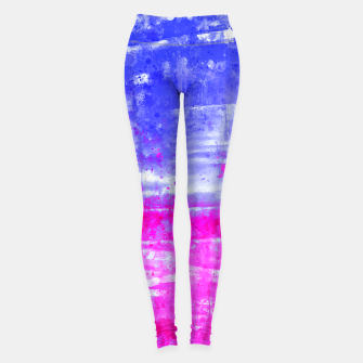 psychedelic sky clouds pattern wsdb Leggings miniature