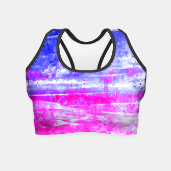 psychedelic sky clouds pattern wsdb Crop Top miniature