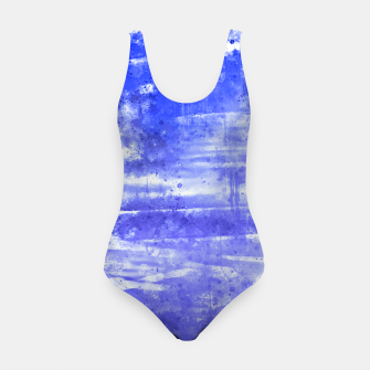 psychedelic sky clouds pattern wsdbb Swimsuit miniature