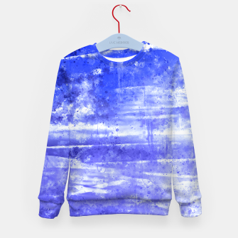 psychedelic sky clouds pattern wsdbb Kid's sweater miniature