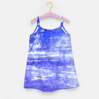 psychedelic sky clouds pattern wsdbb Girl's dress miniature