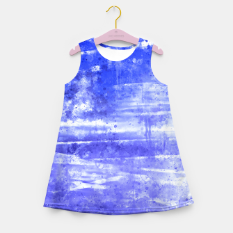 psychedelic sky clouds pattern wsdbb Girl's summer dress miniature