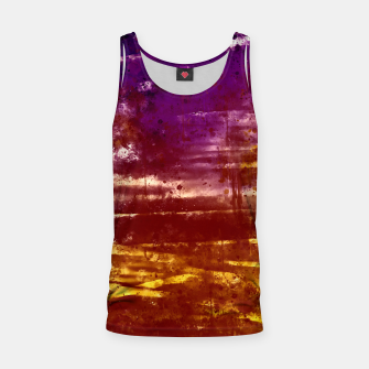 psychedelic sky clouds pattern wsfn Tank Top miniature