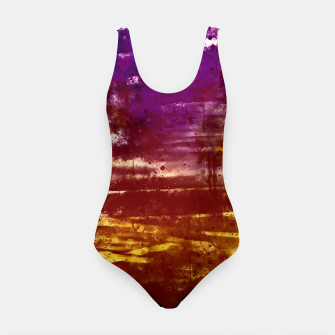 psychedelic sky clouds pattern wsfn Swimsuit miniature