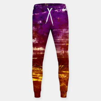psychedelic sky clouds pattern wsfn Sweatpants miniature