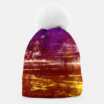 psychedelic sky clouds pattern wsfn Beanie miniature