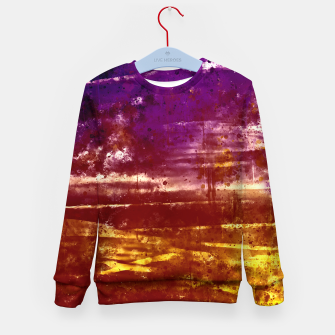 psychedelic sky clouds pattern wsfn Kid's sweater miniature