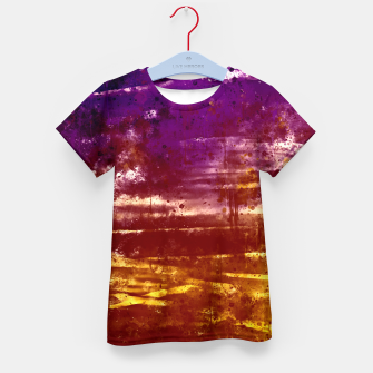 Thumbnail image of psychedelic sky clouds pattern wsfn Kid's t-shirt, Live Heroes