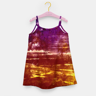psychedelic sky clouds pattern wsfn Girl's dress miniature