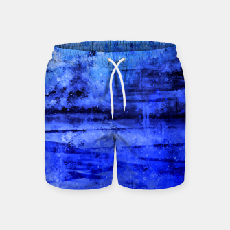 psychedelic sky clouds pattern wsdbi Swim Shorts miniature