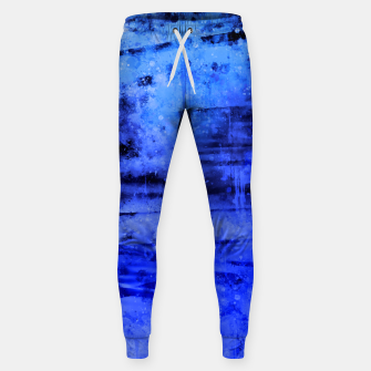 psychedelic sky clouds pattern wsdbi Sweatpants miniature