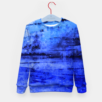 psychedelic sky clouds pattern wsdbi Kid's sweater miniature