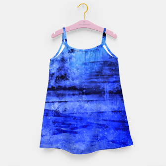 psychedelic sky clouds pattern wsdbi Girl's dress miniature