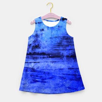 psychedelic sky clouds pattern wsdbi Girl's summer dress miniature