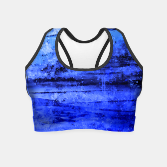 psychedelic sky clouds pattern wsdbi Crop Top miniature