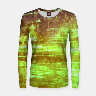 psychedelic sky clouds pattern wsg Women sweater miniature