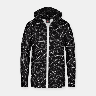 Thumbnail image of Barbed wire Zip up hoodie, Live Heroes