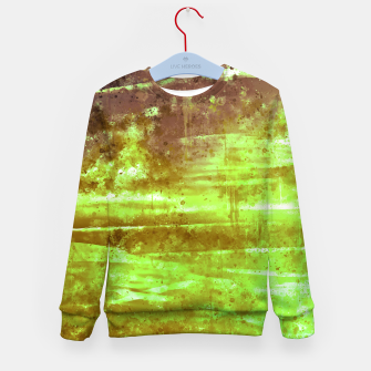 psychedelic sky clouds pattern wsg Kid's sweater miniature