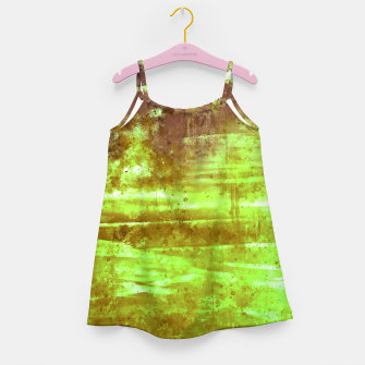 psychedelic sky clouds pattern wsg Girl's dress miniature