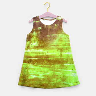 psychedelic sky clouds pattern wsg Girl's summer dress miniature