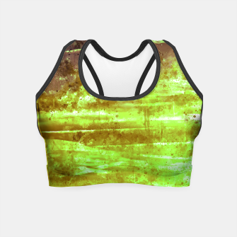 psychedelic sky clouds pattern wsg Crop Top miniature