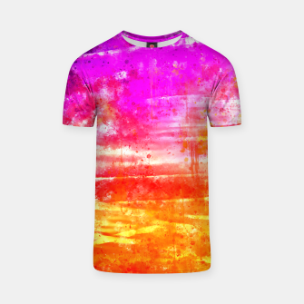 psychedelic sky clouds pattern wsstd T-shirt miniature