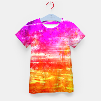 psychedelic sky clouds pattern wsstd Kid's t-shirt miniature