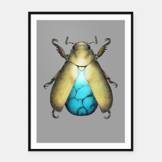 Turquoise Beetle Framed poster miniature