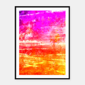 psychedelic sky clouds pattern wsstd Framed poster miniature
