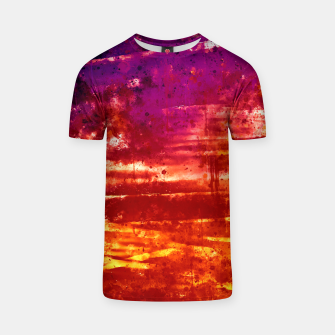 psychedelic sky clouds pattern wsls T-shirt miniature