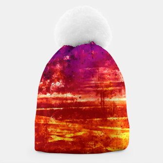 psychedelic sky clouds pattern wsls Beanie miniature