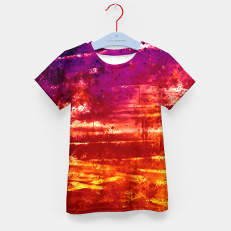 Thumbnail image of psychedelic sky clouds pattern wsls Kid's t-shirt, Live Heroes
