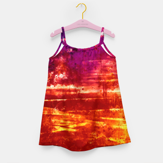 psychedelic sky clouds pattern wsls Girl's dress miniature