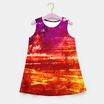 psychedelic sky clouds pattern wsls Girl's summer dress miniature
