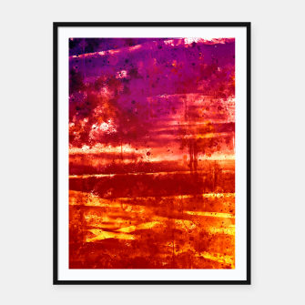 psychedelic sky clouds pattern wsls Framed poster miniature