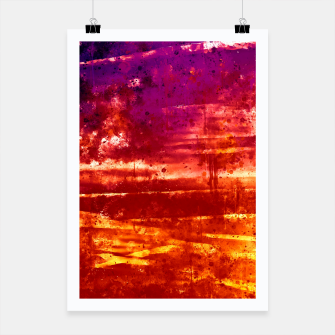 psychedelic sky clouds pattern wsls Poster miniature