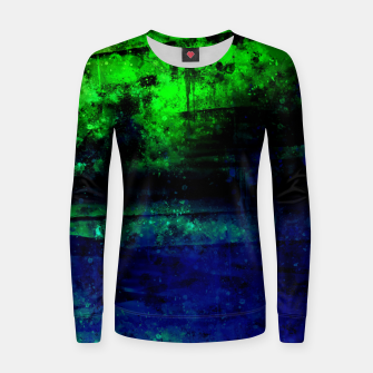 psychedelic sky clouds pattern wslsi Women sweater miniature