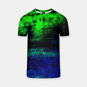 psychedelic sky clouds pattern wslsi T-shirt miniature