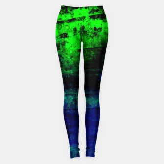 psychedelic sky clouds pattern wslsi Leggings miniature