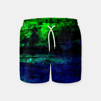 psychedelic sky clouds pattern wslsi Swim Shorts miniature