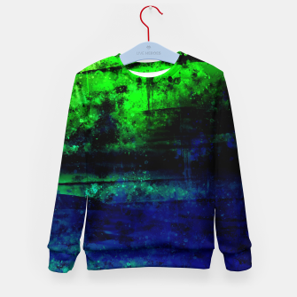 psychedelic sky clouds pattern wslsi Kid's sweater miniature